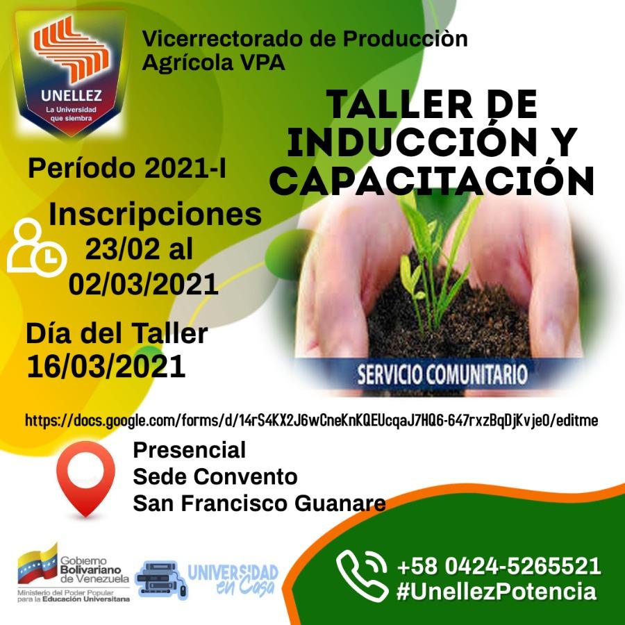 Servicio Comunitario VPA abre inscripciones para Curso de Inducción y Capacitación