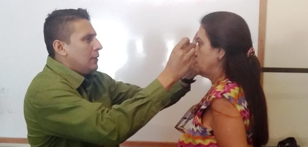 Caypuez atiende 150 afiliados en operativo para asignación de lentes