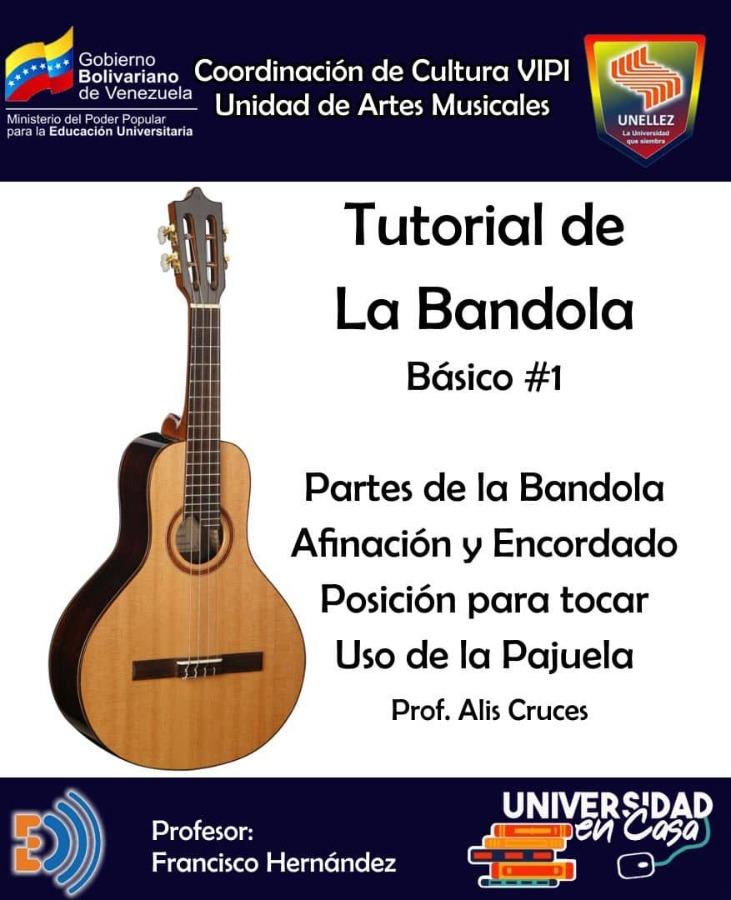 Coordinación de Cultura del VIPI promociona tutorial de Bandola