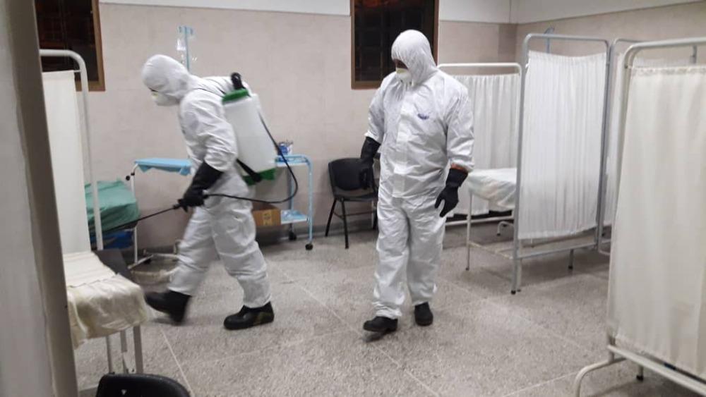 Bomberos Unellez colabora con   desinfección contra el COVID-19