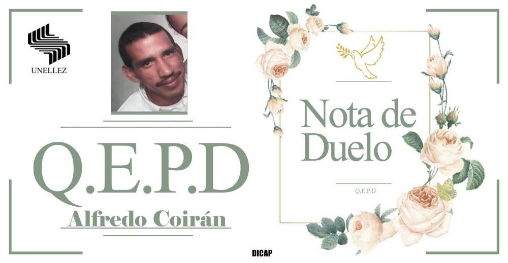 Nota de Duelo Alfredo Coirán