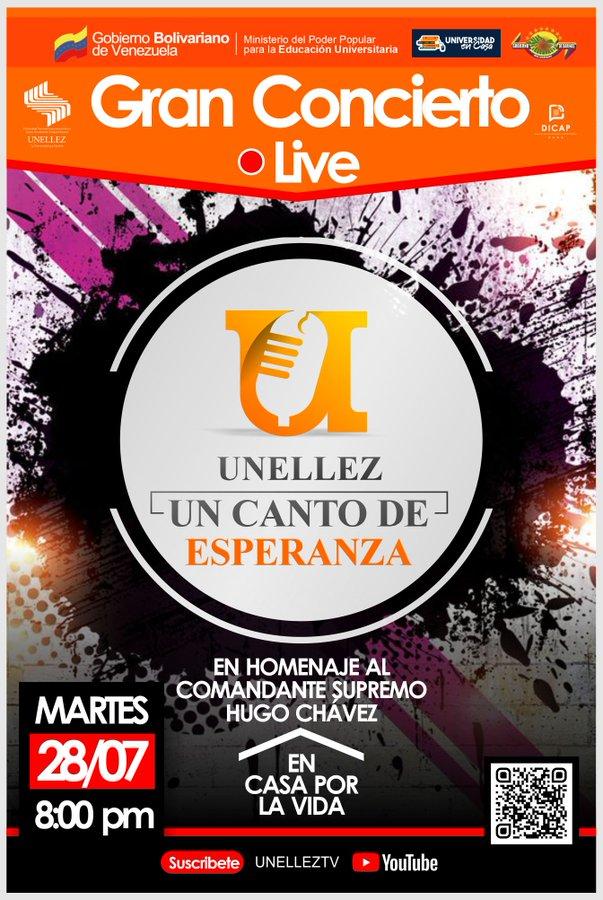Unellez transmitirá concierto en homenaje al nacimiento del Comandante Supremo Hugo Chávez