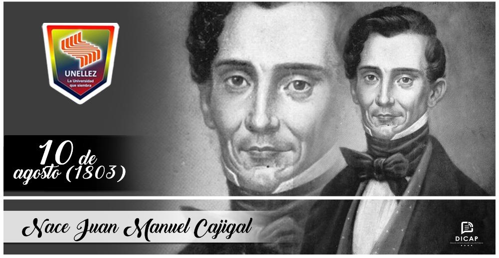 10 de agosto:  Nace Juan Manuel Cajigal (1803)