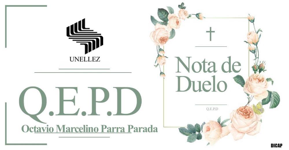 Nota de  Duelo Octavio Parra