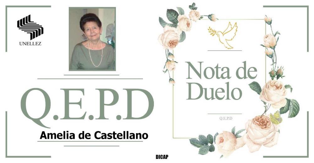Nota de Duelo Amelia de Castellano
