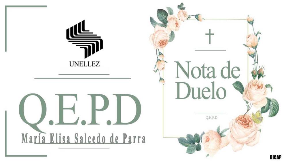 Nota de Duelo María Salcedo