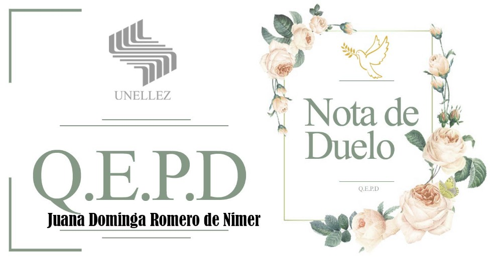 Nota de Duelo: Juana Dominga Romero de Nimer