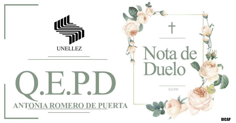 Nota de Duelo Antonia Romero de Puerta