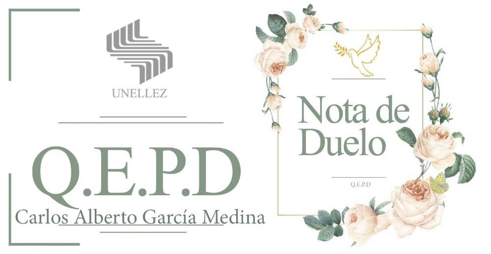 Nota de Duelo Carlos Alberto García Medina