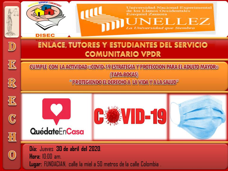 Unellez ofrece protección a los adultos mayores cumpliendo con la seguridad sanitaria del COVID-19