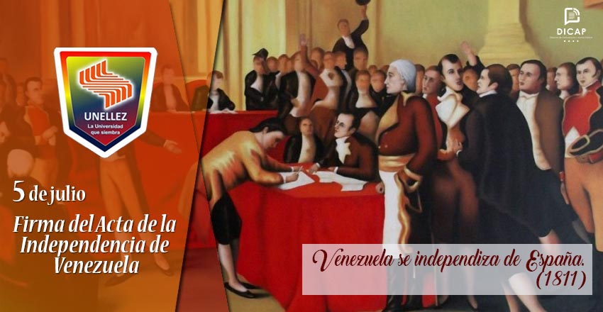 5 de julio: Venezuela se independiza de España