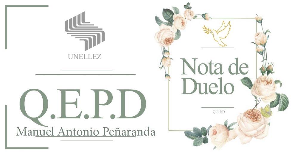 Nota de Duelo Manuel Antonio Peñaranda