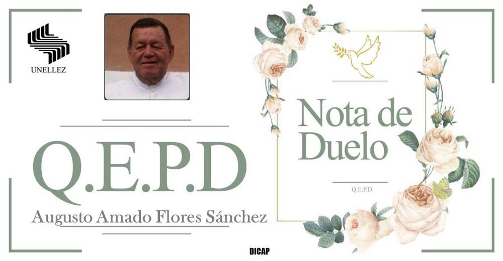 Nota de Duelo Augusto Flores Sánchez