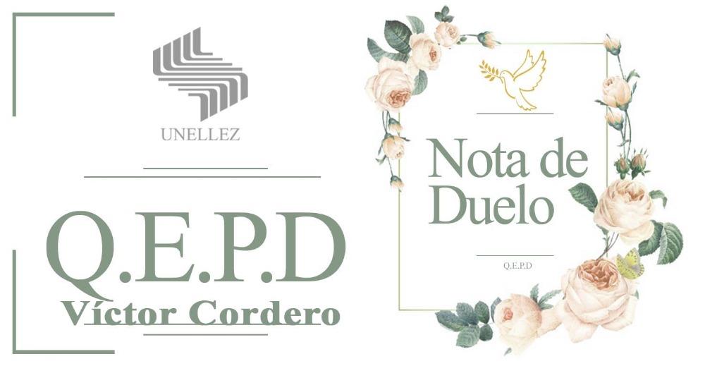 Nota de Duelo Víctor Cordero