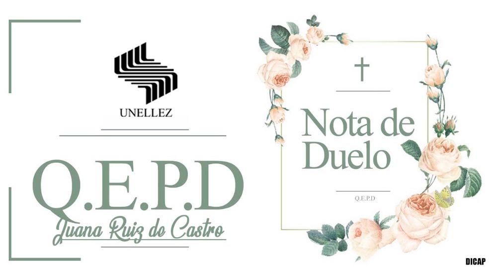 Nota de Duelo Juana Ruiz de Castro
