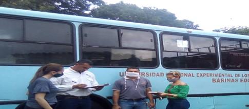 Dirección de Bienes realizó jornada de inspección a autobuses de la Unellez