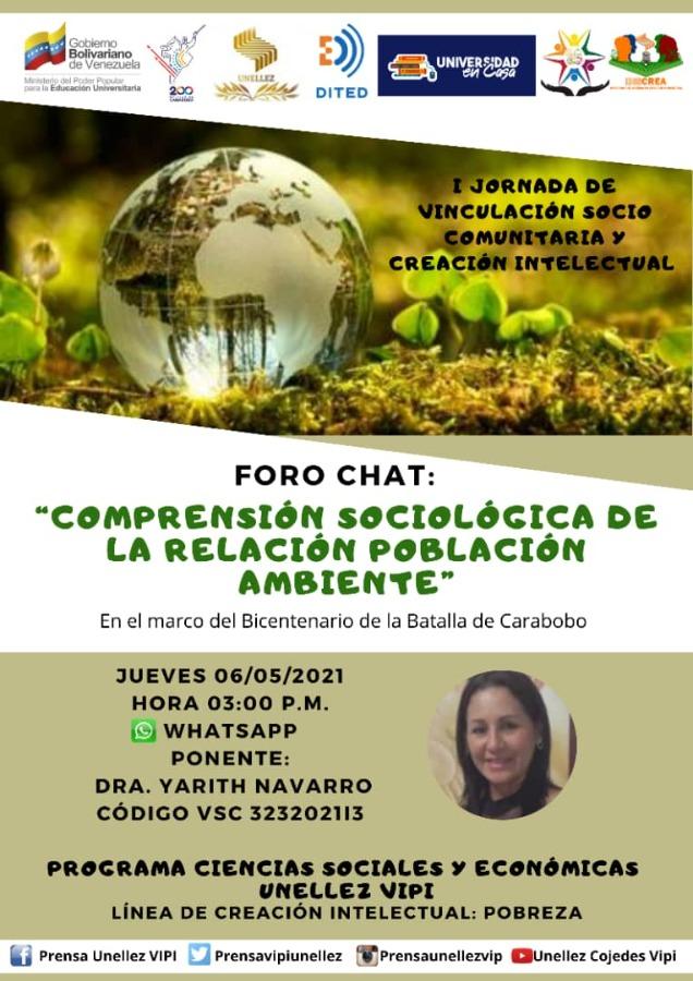 Foro Chat: Compresión Sociológica de la Relación Población-Ambiente
