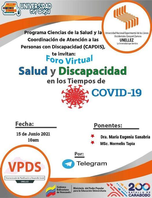 Foro Virtual: Salud y discapacidad en tiempos de Covid- 19