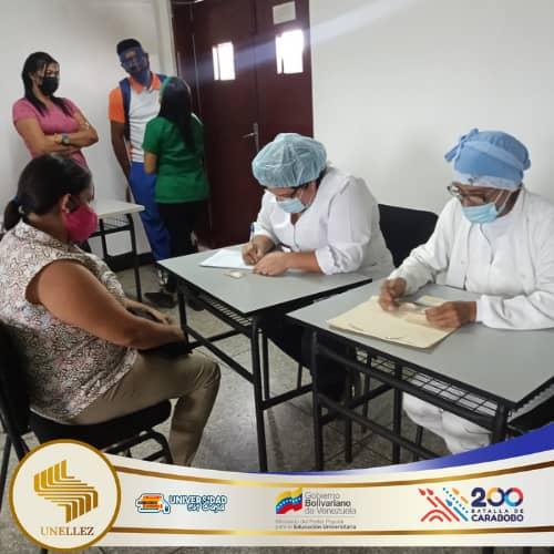 Jornada de Vacunación contra el covid19 en la Unellez de San Carlos