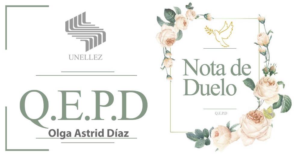 Nota de Duelo: Olga Astrid Díaz