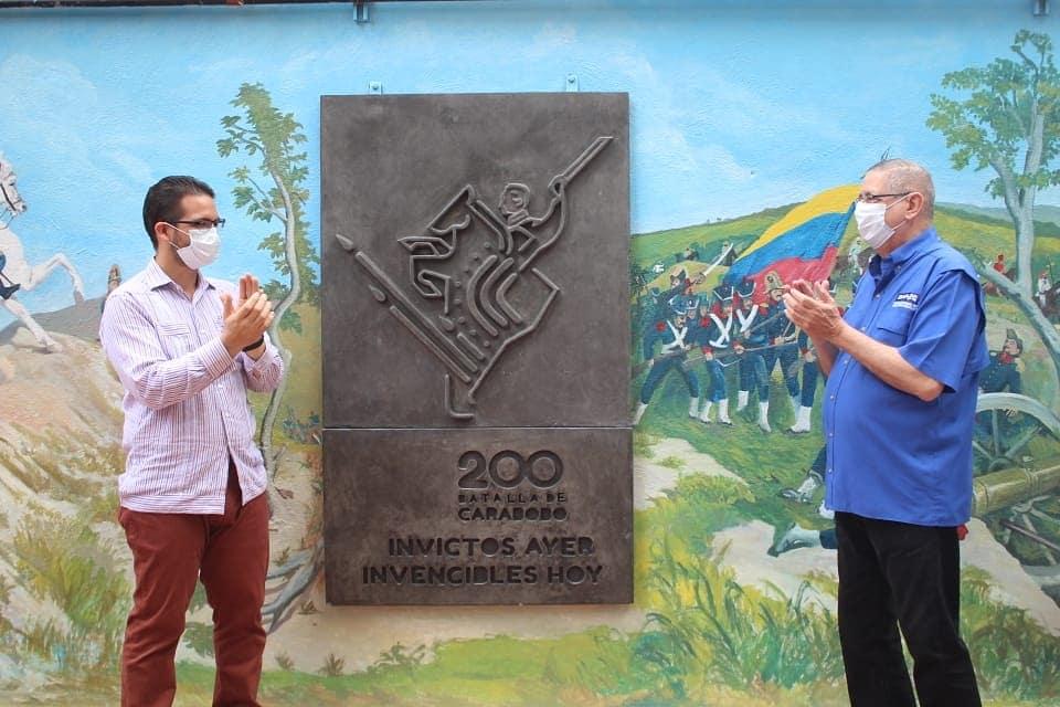 """Ministro Trómpiz develó Mural """"Batalla de Carabobo"""" y Placa Bicentenaria en la Escuela Nacional de Administración y Hacienda Pública"""